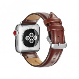 Leather strap for Apple Watch 5, 4 44mm and 3, 2, 1 42mm