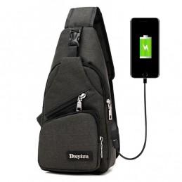 Bolso de pecho, hombro, cintura con interfaz de carga USB