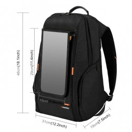 Backpack with 7 Watt Solar Panel with external USB charging and Headphone Port